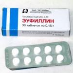 Эуфиллин в таблетках